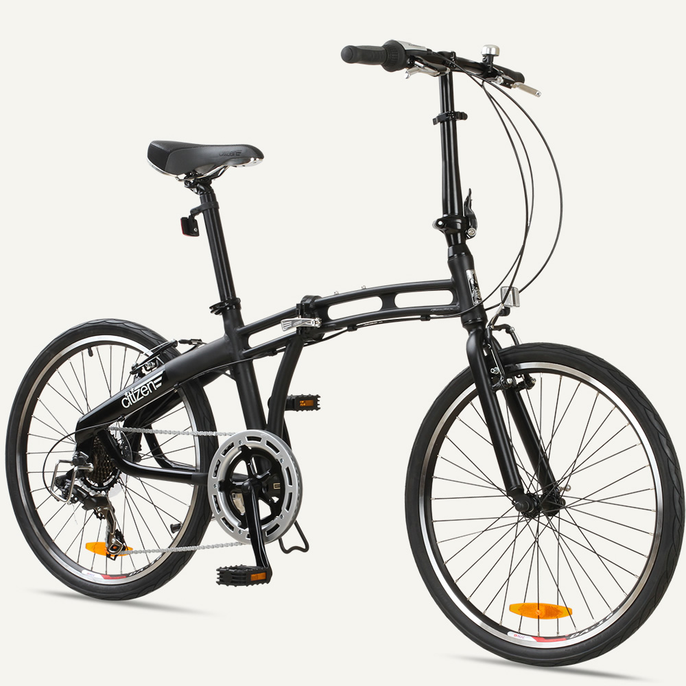 "GOTHAM 24-7 Citizen Bike 24"" 7-speed Folding Bike with Alloy Frame"